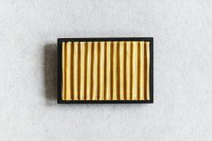 Brosche, Gold 900, Silber oxidiert, 1985