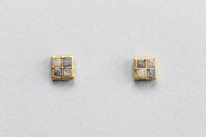 Ohrschmuck, Gold 900, Rohdiamant, 2016