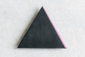 Brosche, Plexiglas, Kupfer oxidiert, 1984