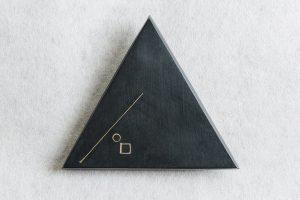 Brosche, Silber, Kupfer oxidiert, 1984