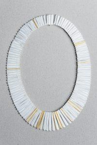 Halsschmuck, Gold, Silber, Weiß gesiedet, 1986