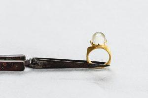 Ring, Gold 750, Indischer Mondstein, 2001