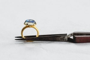 Ring, Gold 750, Labradorit, 2007