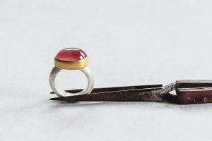 Ring, Silber, Gold, Rhodochrosit, 2018