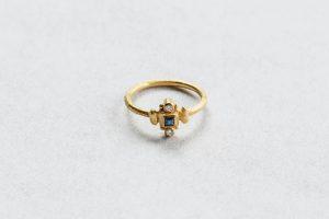 Ring, Gold 750, Safir, Brillanten, 2014