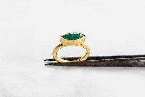 Ring, Gold 750, Smaragd, 2016