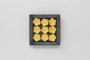 Silber oxidiert, Gold 750, Sepiaguss, 2020